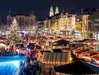 Wienachtsdorf auf dem Bellevue in Zürich